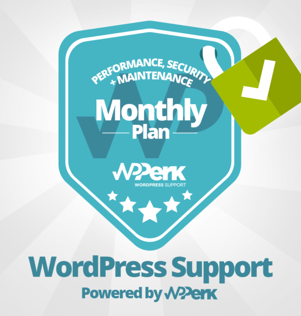 WordPress Support and Maintenance Package - Monthly