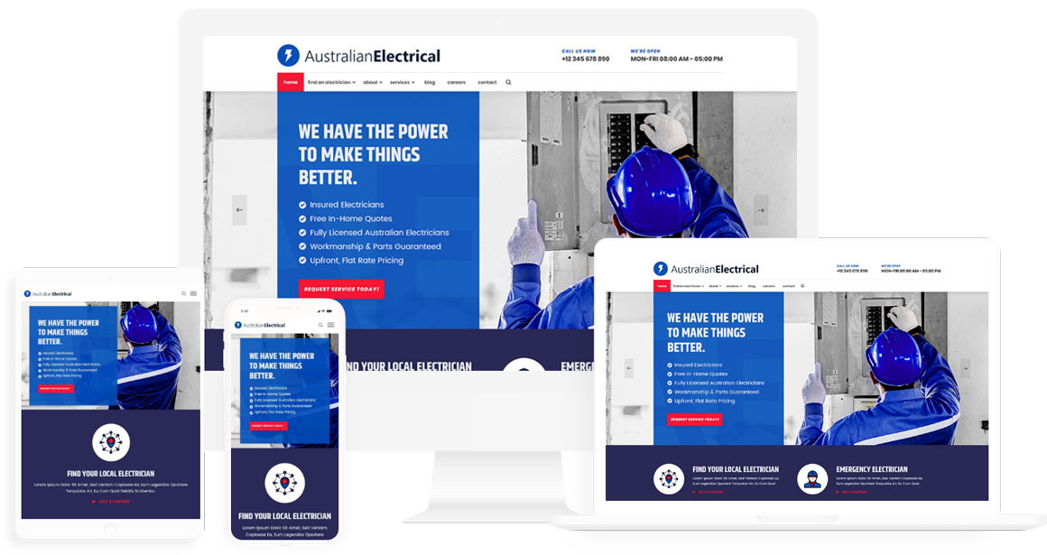 Electrician or tradie website design template