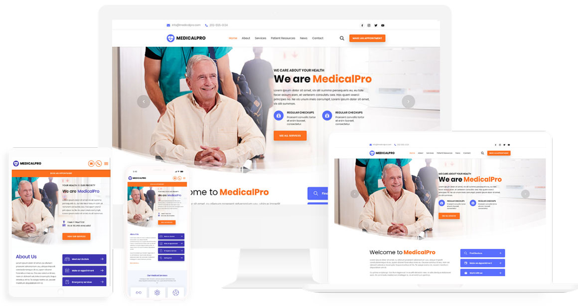 Medical website design template