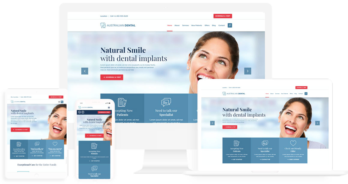 Medical or Dentist website design template